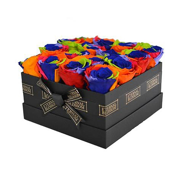 Rainbow Rose Box